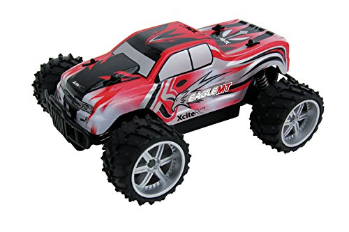 XciteRC-30507100-Ferngesteuertes-RC-Auto-Eagle-Monster-Truck-M-116-2WD-RTR-Modellauto-rote-Karosserie