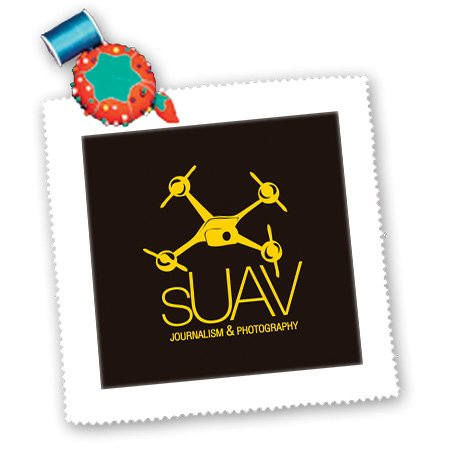 Qs_179960_3 Kike Calvo Drone And Unmanned Vehicle Collection - Suav Black And Yellow Drone For Journalism And Photography - Quilt Squares - 8X8 Inch Quilt Square