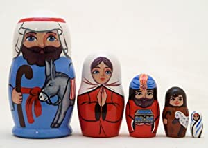 Baby Jesus Russian Nesting Doll 5pc./4