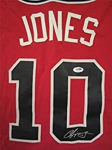 Chipper Jones Signed Jersey Atlanta Braves Itp Coa - PSA DNA Certified - Autographed... by Sports Memorabilia
