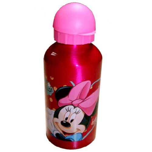 Disney Minnie Mouse Girls Bright Pink Aluminium Water Bottle 500ml