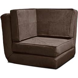 your zone flip corner chair, brown