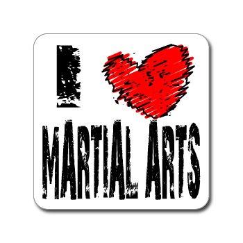 I Love Heart MARTIAL ARTS - Window Bumper Laptop Sticker