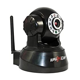 2de8f49a0d2 Black Wireless IP Pan Tilt  Night Vision Internet Surveillance House  Security Camera Built-in Microphone With Phone remote monitoring support   Camera   ...