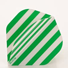 5 x Sets of Green White Stripes Team Colours Football Standard Shape
