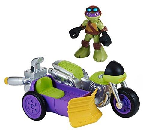 Tartarughe ninja motorcycle sidecar with don half shell heroes veicolo e figura for Prezzo tartarughe