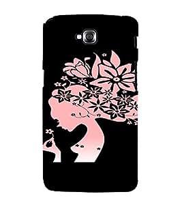 PrintVisa Girly Pink Flower Design 3D Hard Polycarbonate Designer Back Case Cover for LG Gpro Lite