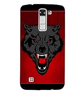 Wolf Fox Graffiti 3D Hard Polycarbonate Designer Back Case Cover for LG K7 4G Dual
