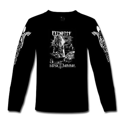 """T-Shirt a maniche lunghe """"Valhalla"""" S-XXL Nero  nero"""