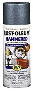 Rust-Oleum 7219830 Hammered Metal Finish Spray, Verde Green, 12-Ounce
