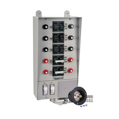 Reliance Controls 30-Amp (4-Prong 10-Circuit) Indoor Transfer Switch - 30310A