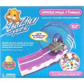 Zhu Zhu Pets Hamster Wheel & Tunnels Exlusive Set with 1 Hamster Included