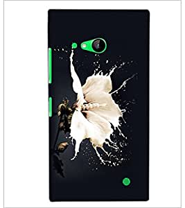 PrintDhaba Flower D-2259 Back Case Cover for NOKIA LUMIA 730 (Multi-Coloured)
