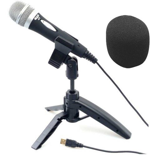 Cad Audio U1 Usb Recording Microphone With Tripod Stand Bundle With Coby Combo Headphones & Mic Windscreen