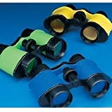 12 Plastic Kids Binoculars, Asst Colors, Party Favors, Pretend Play
