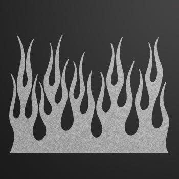 Flames... Silver-Matte (08 X 5.9 inch) KR5X5