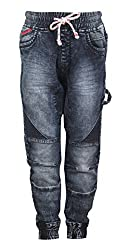Vitamins Boys' Jeans (22B-736-34-Dx Cloud Wash_Dark Blue_9 - 10 Years)