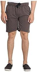 Broche Men's Cotton Shorts (Broche9013-Xl, Brown, X-Large)