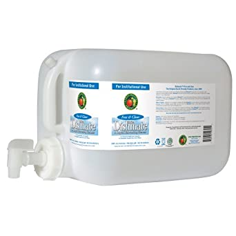 Earth Friendly Products Proline PL9721/05U Dishmate Free and Clear Ultra-Concentrated Liquid Dishwashing Cleaner, 5 gallon Deltangular