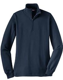 Sport-Tek LST253 Ladies 1/4-Zip Sweatshirt,Large,Navy