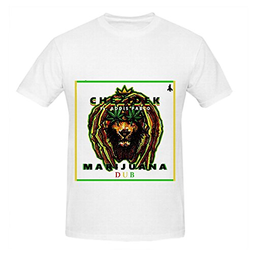 Marijuana Dub Chezidek Men Mens Crew Neck T Shirt World Tour 2016 White
