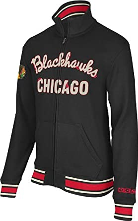 Chicago Blackhawks Retro Fleece Track Jacket by Reebok by Reebok