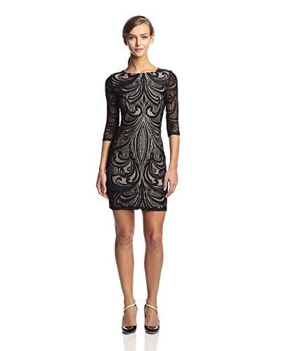 Julia Jordan Women's Long Sleeve Lace Placement Sheath Dress