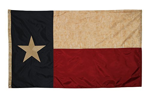 Embroidered Texas Vintage Flag (Premium Grade Polyester), 3' X 5' (Vintage Flag compare prices)