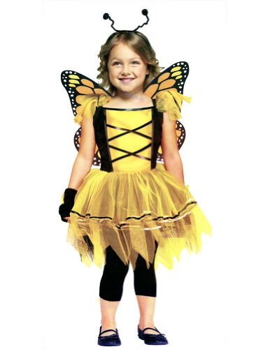 Ballerina Butterfly Gold Toddler Halloween Costume 24M-2T -Funworld