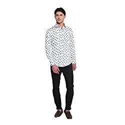 Favoroski Men's Glory White Casual Shirt