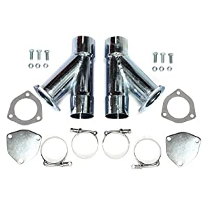 "Patriot Exhaust H1130 2-1/2"" Exhaust Cut-Out Hookup Kit - Pair"