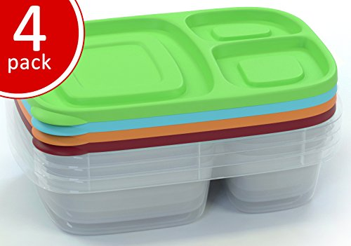 Sunsella Buddy Box  4 Premium Quality, BPA Free, Plastic Bento Lunch Boxes Picture