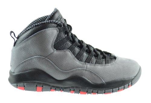 Air Jordan Retro 10 Men's Basketball Shoes Cool Grey/Infrared-Black 310805-023 (7.5 D(M) US) (Air Jordan 10 Retro Cool Grey compare prices)