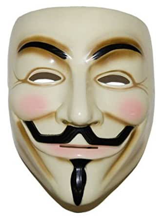 V for Vendetta Mask Guy Fawkes Halloween Masquerade Party Face (10 pcs)