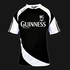 GUINNESS BLACK WHITE SOCCER JERSEY