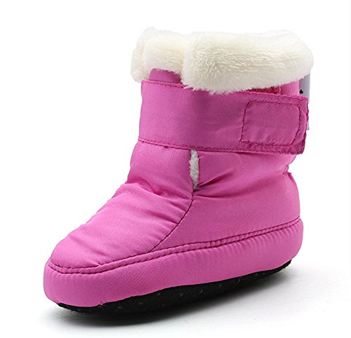 Newborn Baby Boys and Girls Waterproof Winter Warm Snow Boots (13cm(6-12Months), Purple)