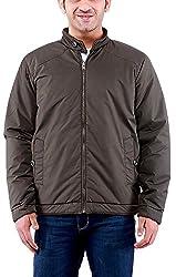 Time Option Men's Polyester Jacket (5012_Olive_44)