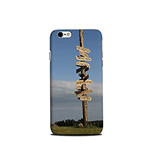 Mikzy Wooden Pole With Address Printed Designer Back Cover Case for Iphone 6/6S