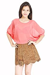 Lady Being Women's Crop Top(CT-SS16-09S_Pink_Small)