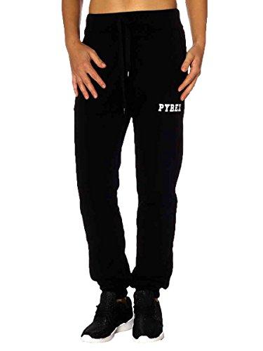Pantalone Pyrex Cotone Felpato 33015 Made in Italy Nero, XS MainApps