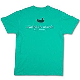 Southern Marsh Men\'s Authentic Tee, Jockey Green, Large