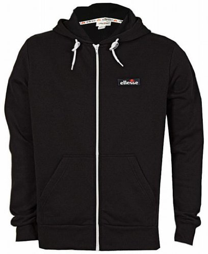 Ellesse Formation Men's Hoodie Hoody Full Zip Track Top Sweatshirt black Medium