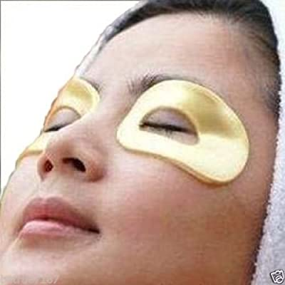 10 Masks in 5 Pairs of 24k Gold Eye Collagen Hyaluronic Acid, Vitamin B5, Vitamin E, Reduce Wrinkles and Dark Circles Around the Eye Area