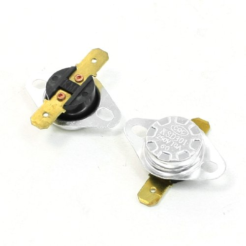 Ksd301 60Celsius 140F 250V 10A Normal Close Temperature Switch