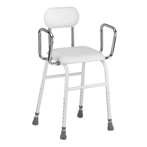 Drive Medical Kitchen Stool, White