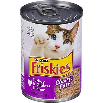Friskies Turkey and Giblets Canned Cat Food 24 x 13 oz