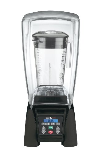 Waring Commercial MX1500XTX Reprogrammable Hi-Power Blender with Sound Enclosure and Raptor Copolyester Container, 64-Ounce