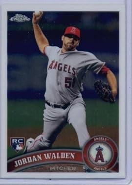 2011 Topps Chrome Baseball Card #183 Jordan Walden RC - Angels (RC - Rookie Card) - MLB Trading Card