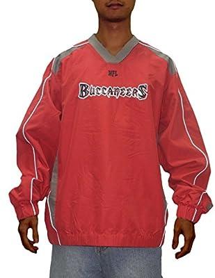 BIG & TALL: Mens NFL Tampa Bay Buccaneers Wind Breaker Jacket with Emboridered Logo