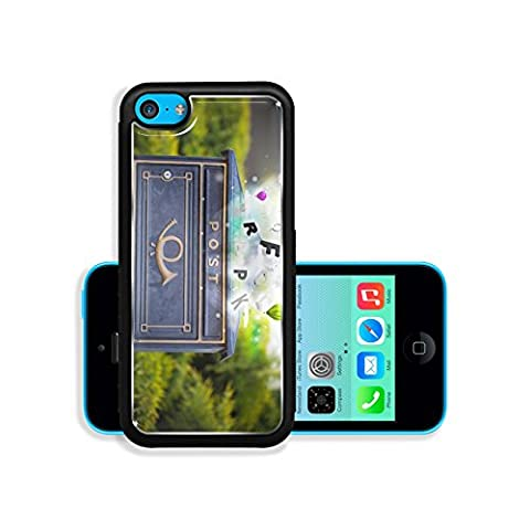 Liili Premium Apple iPhone 5C Aluminum Backplate Bumper Snap Case Post box with colorful abstract letters 29287624